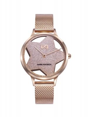 Tooting_bm Reloj de Mujer Mark Maddox Tooting, dos agujas , acero con malla milanesa