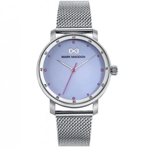 Midtown Reloj de Mujer Mark Maddox Midtown,tres agujas, acero con malla milanesa